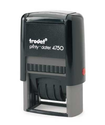 "Trodat 4750 Self-Inking Die-Plate Dater (2"" x 1"")"